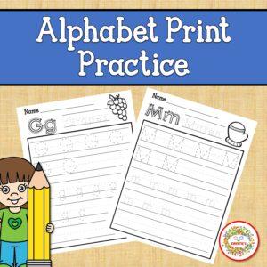 Print Alphabet Tracing Worksheets