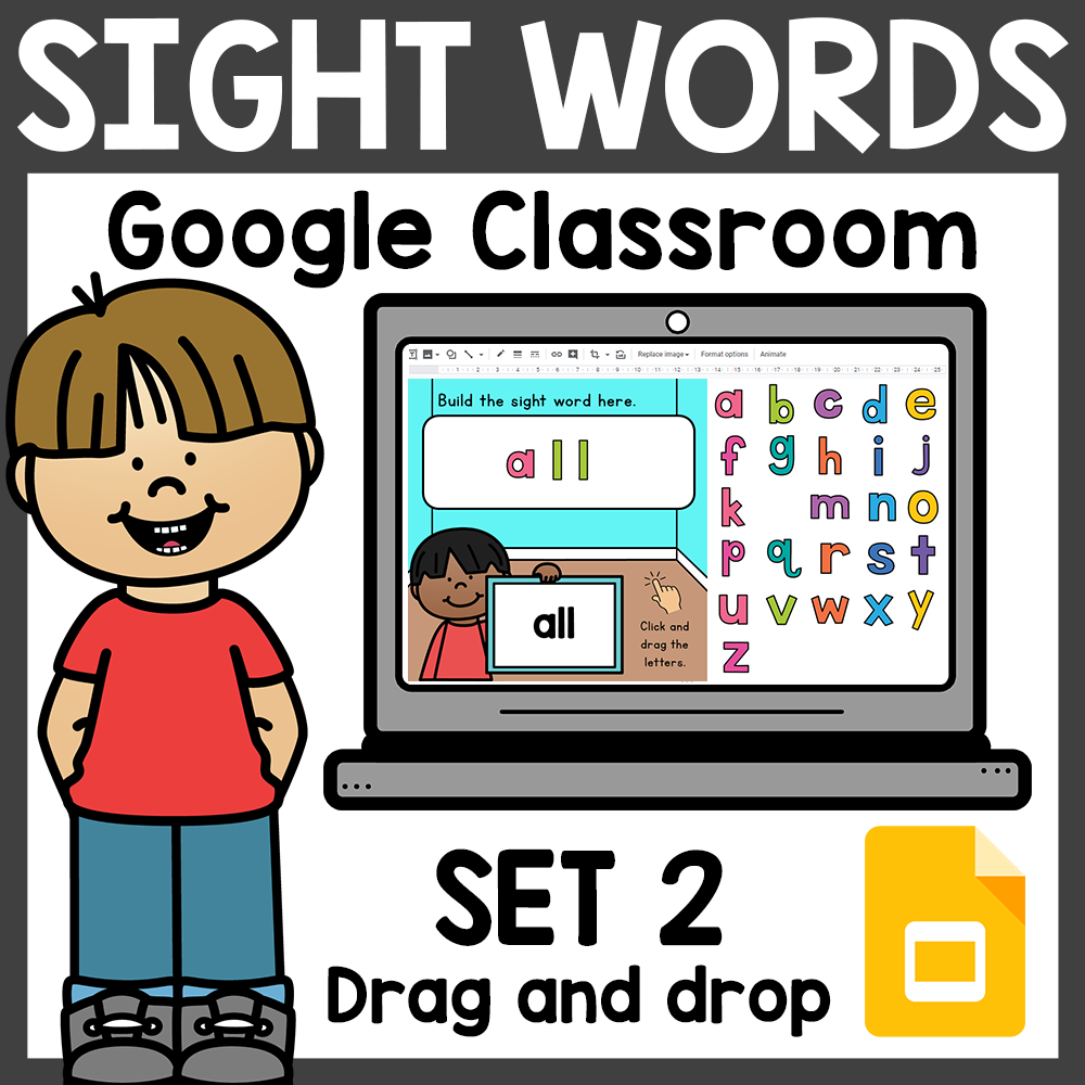 Build Sight Words for Google Classroom Distance Learning Set 2