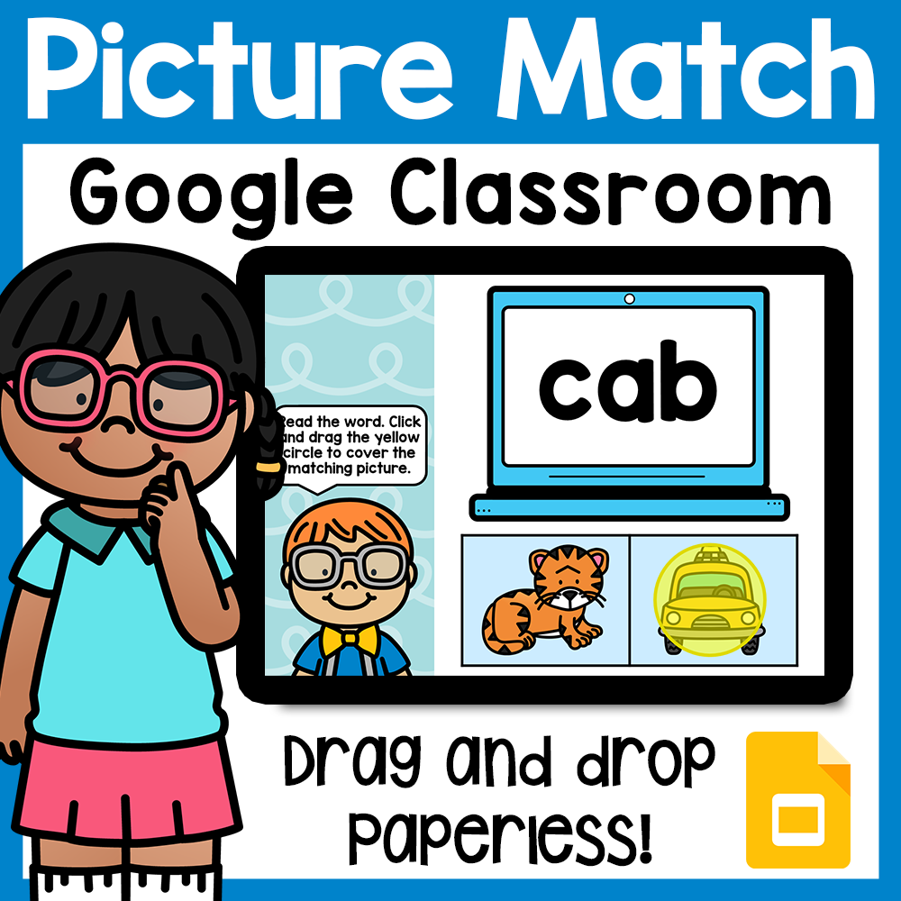 Read and Match CVC for Google Classroom Distance Learning