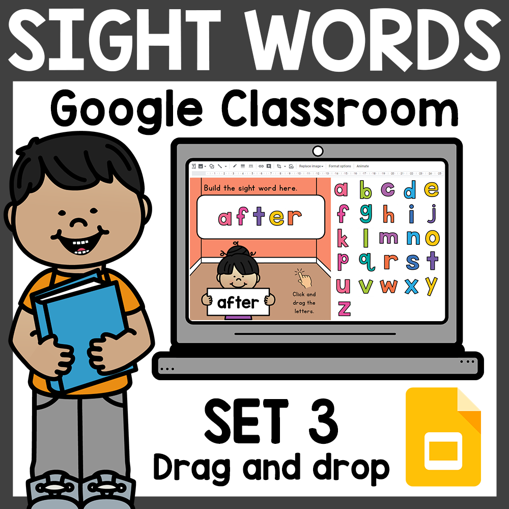 Build Sight Words for Google Classroom Distance Learning Set 3