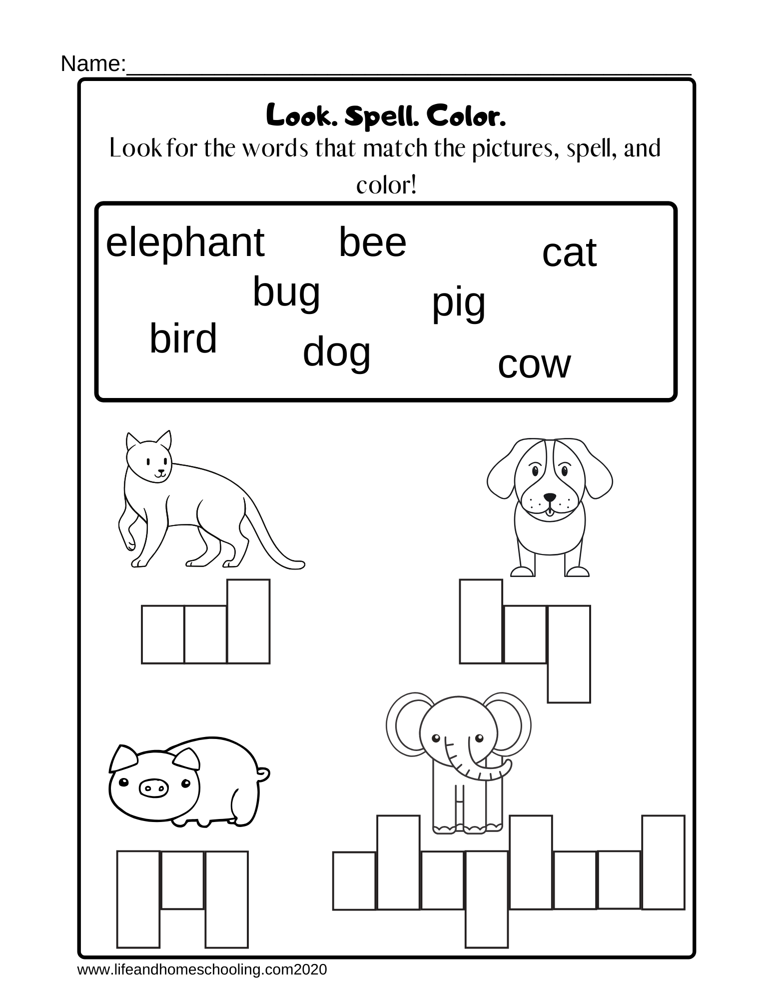 Kindergarten Spelling Worksheet - Madebyteachers