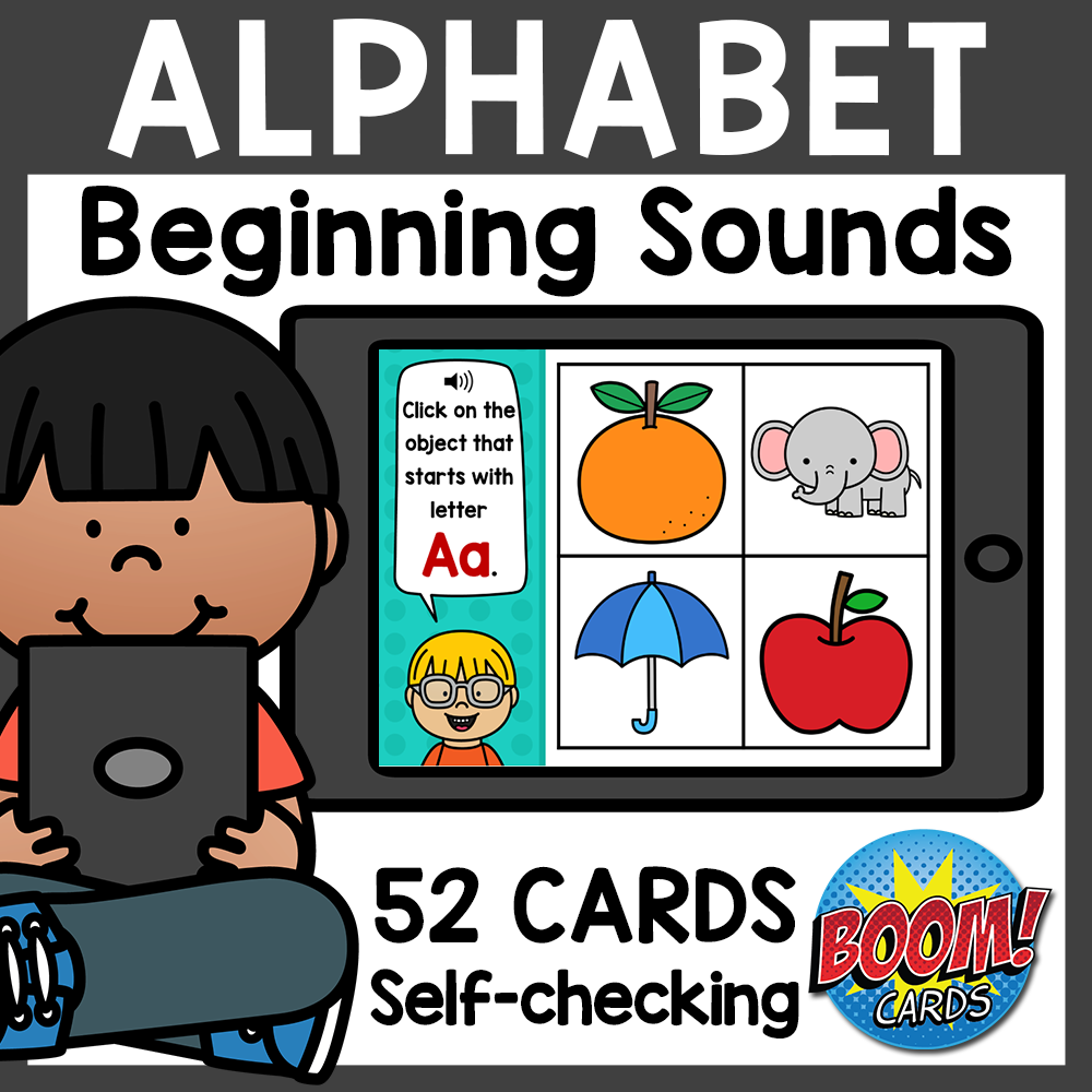 Beginning Sounds Alphabet Boom Cards Distance Learning