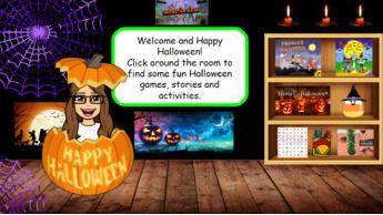 Halloween Virtual Bitmoji Classroom