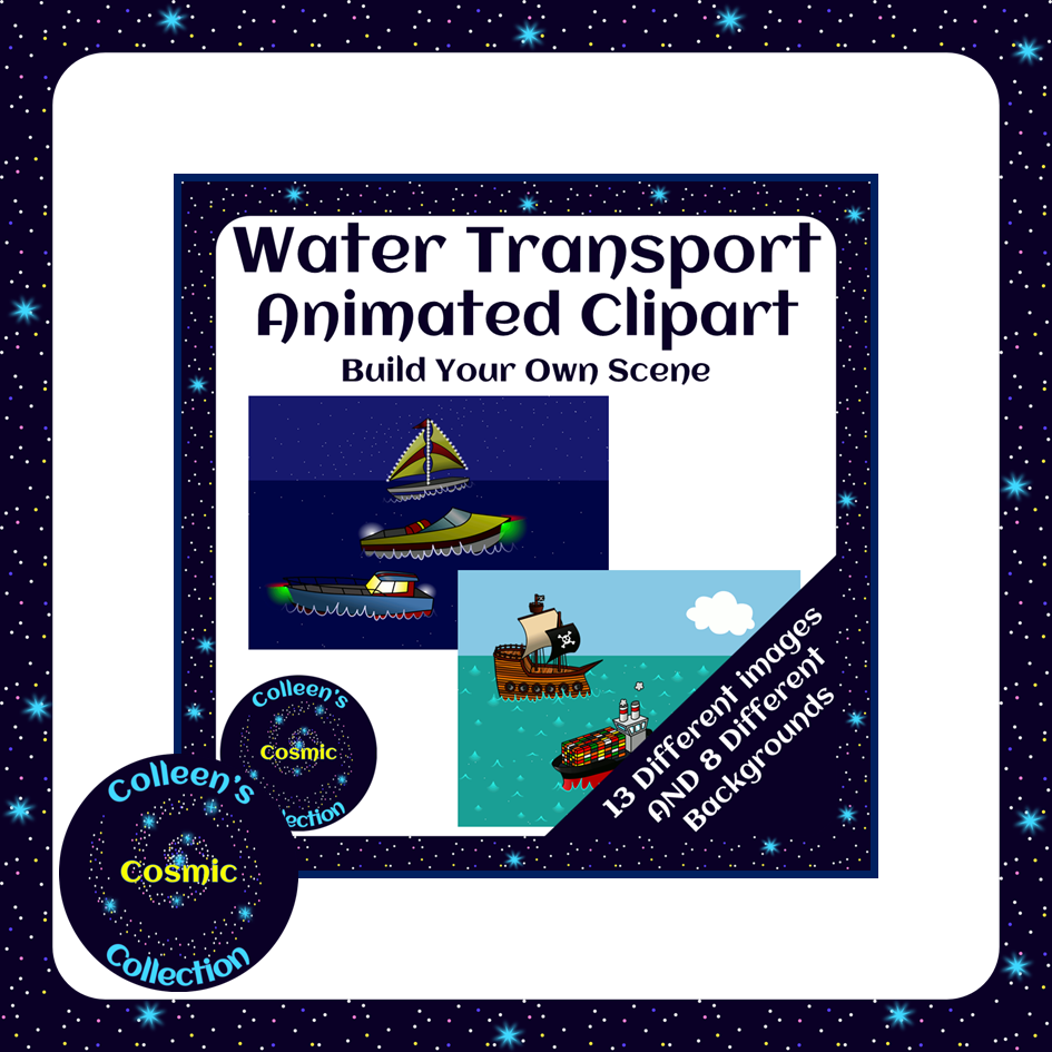 Animated Water Transport Clipart BUNDLE - Save 20% ...