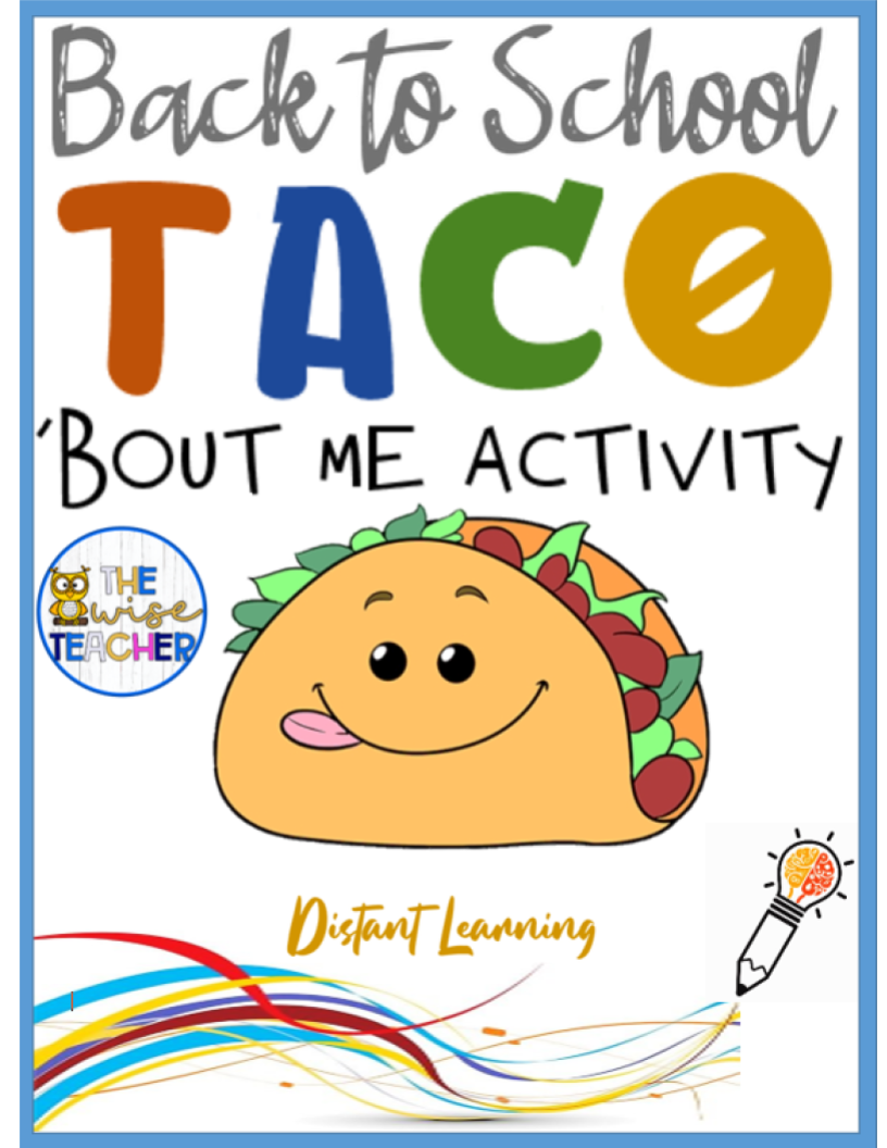Let's Taco 'Bout ME! (PDF) Back to School Activities - Madebyteachers