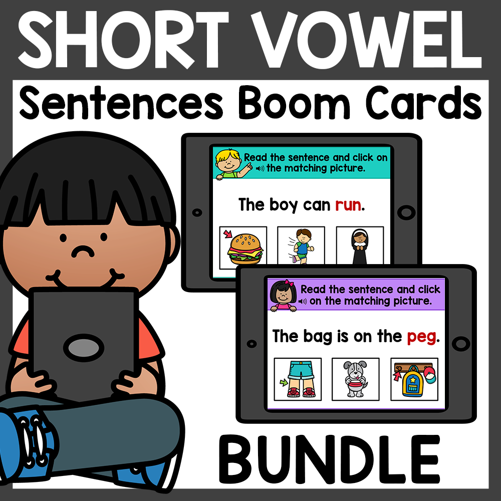 Reading CVC Sentences Boom Cards Distance Learning