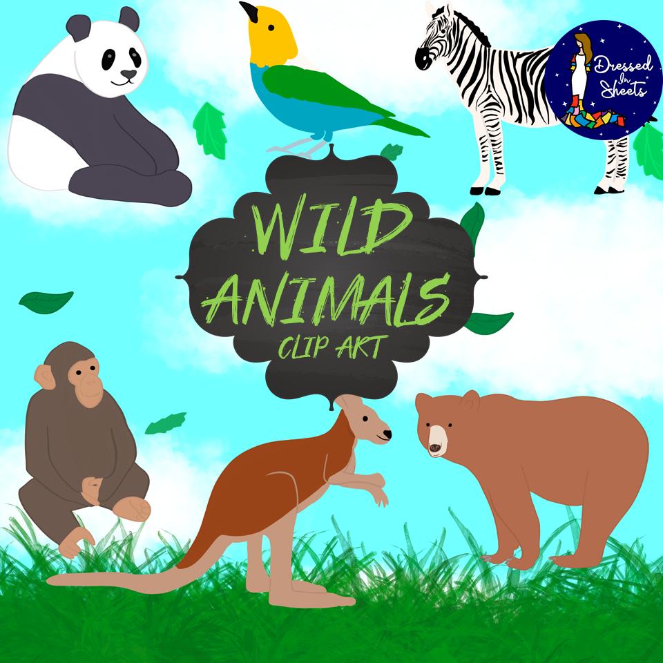 Wild Animals Clip Art Madebyteachers