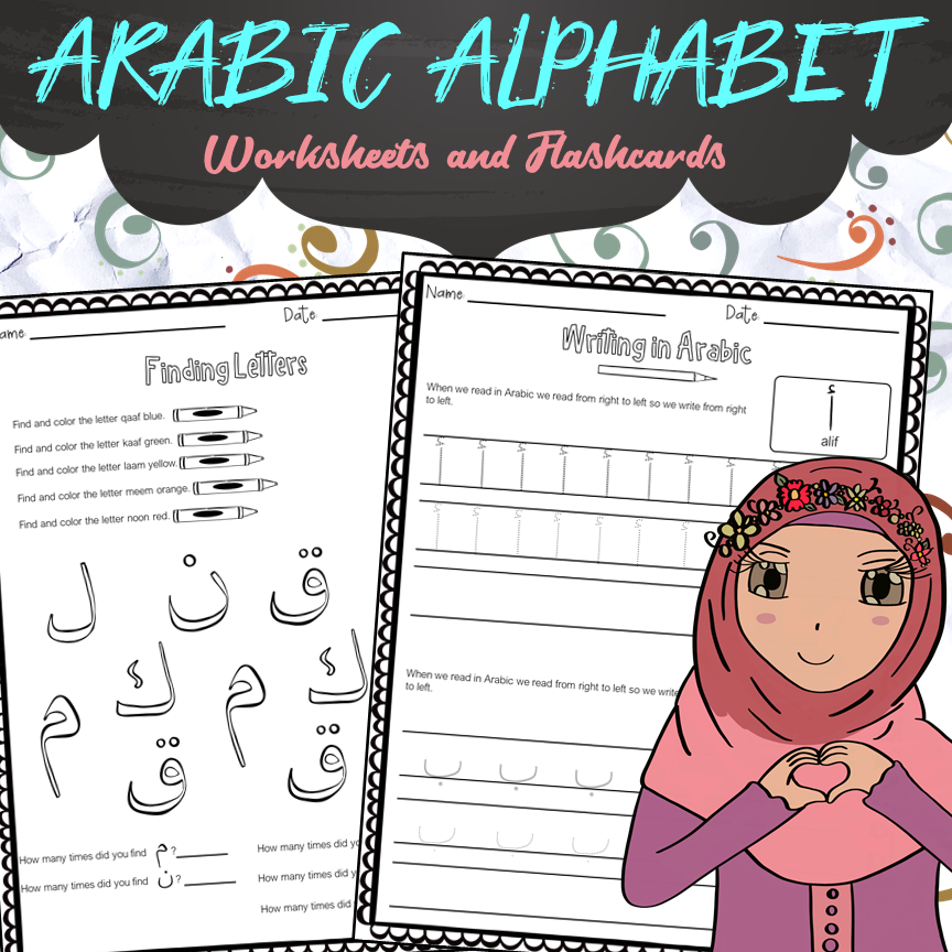 Arabic Alphabet Worksheets And Flashcards - Made By Teachers