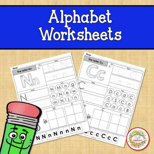 Alphabet Worksheets Kindergarten - Made By Teachers