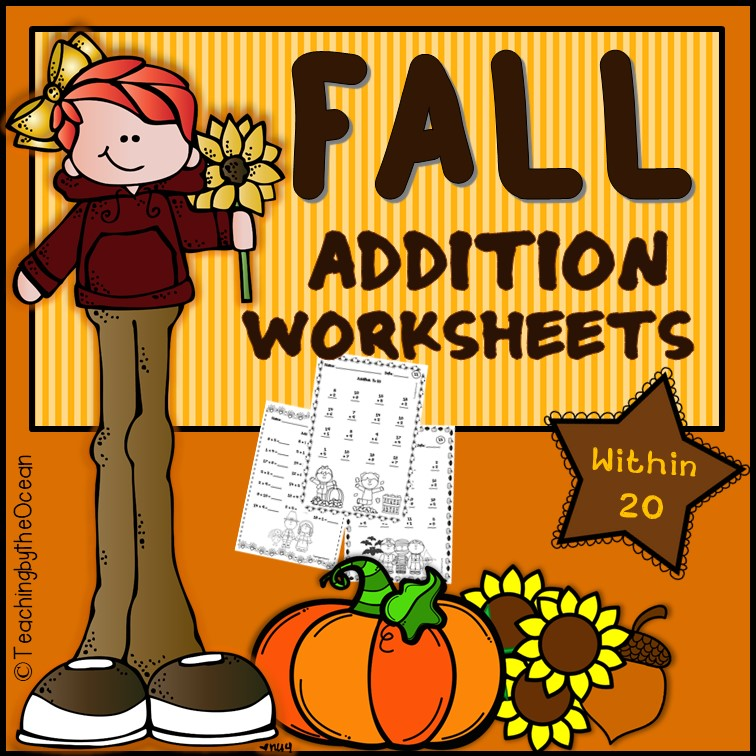 Fall Addition to 20 Fact Fluency Worksheets