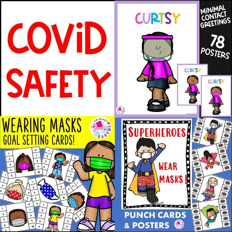 Covid 19 Safety Bundle Wearing Masks at School
