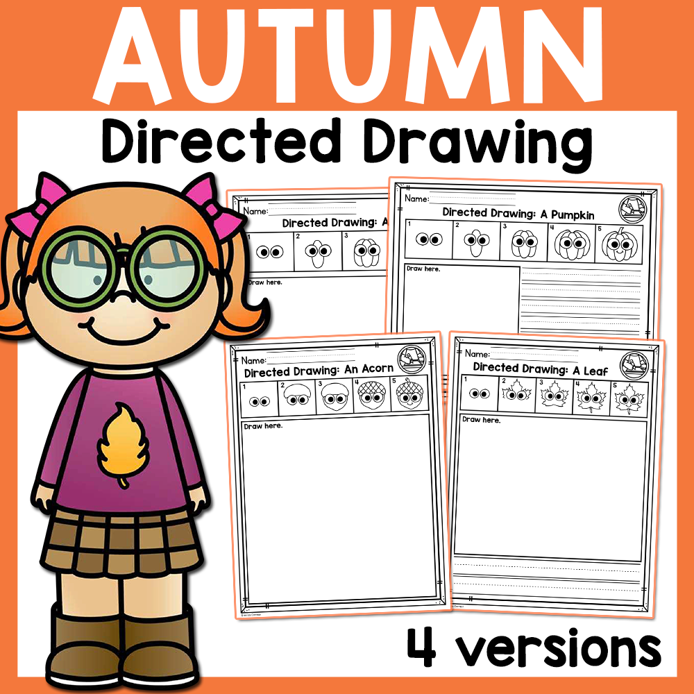 Fall Directed Drawing Activity Distance Learning