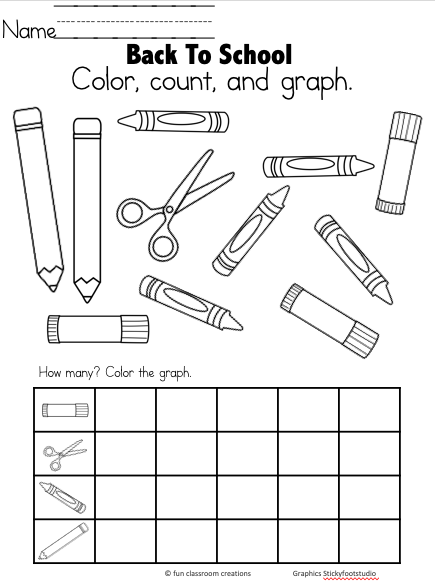 Free Back To School Kindergarten Math Worksheet - Made By Teachers