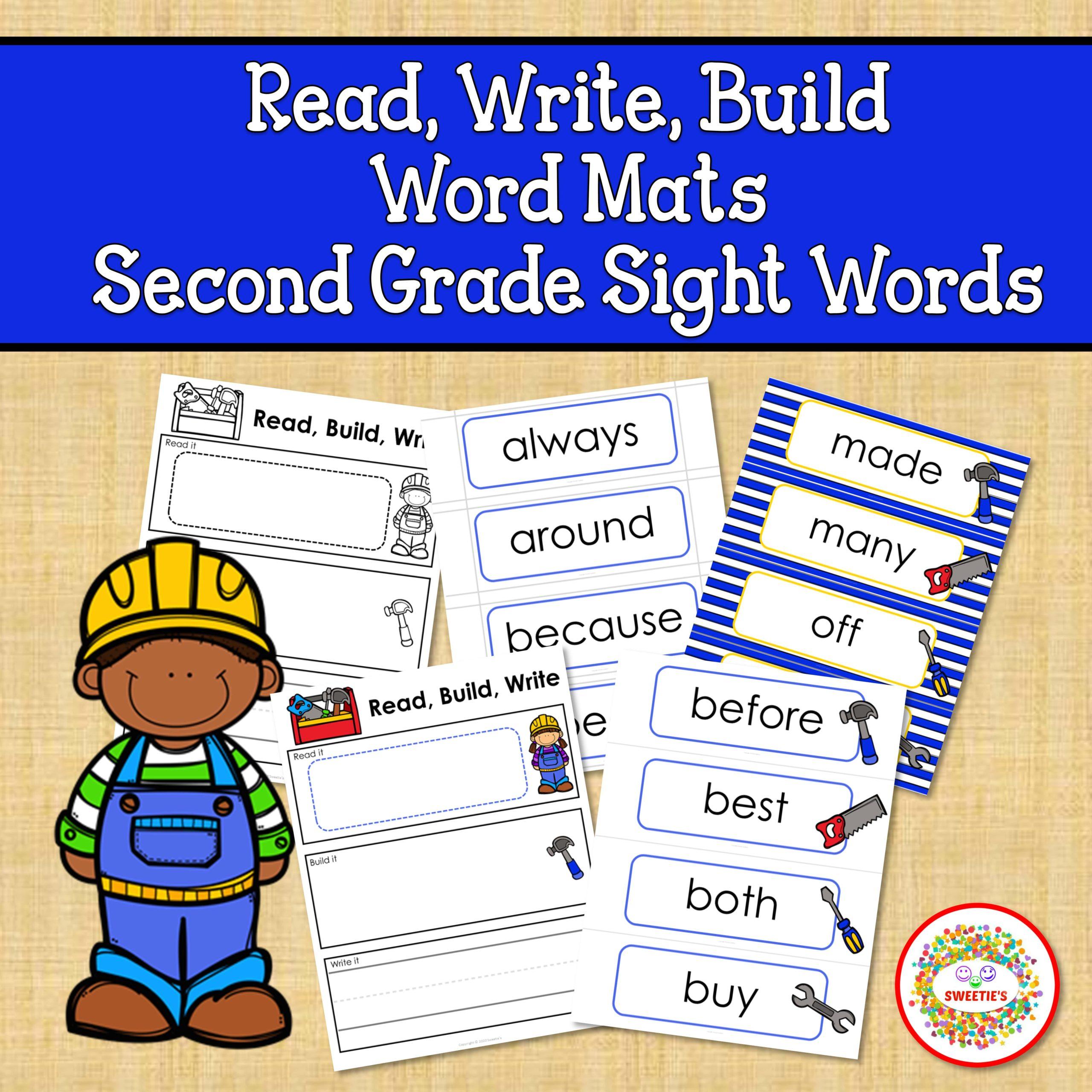 Sight Words Read, Build, Second Grade Sight Words