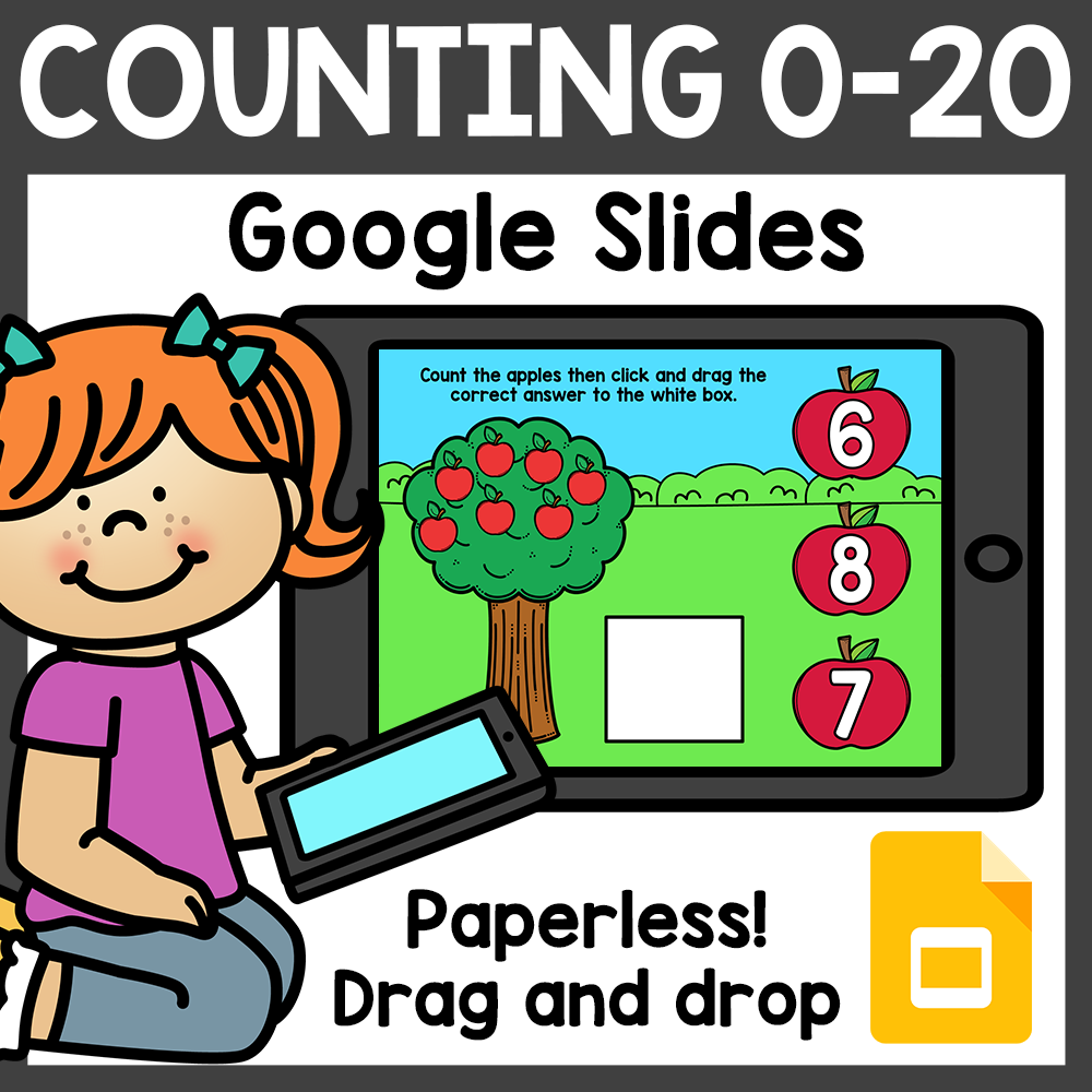 Counting 0-20 Google Classroom Distance Learning