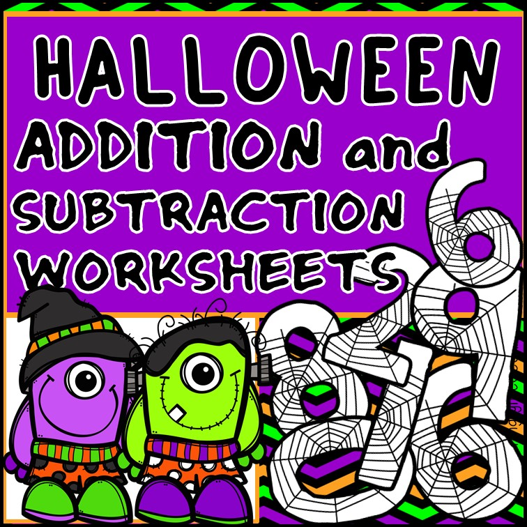 Addition and Subtraction to 20 Fact Fluency Worksheets - Halloween