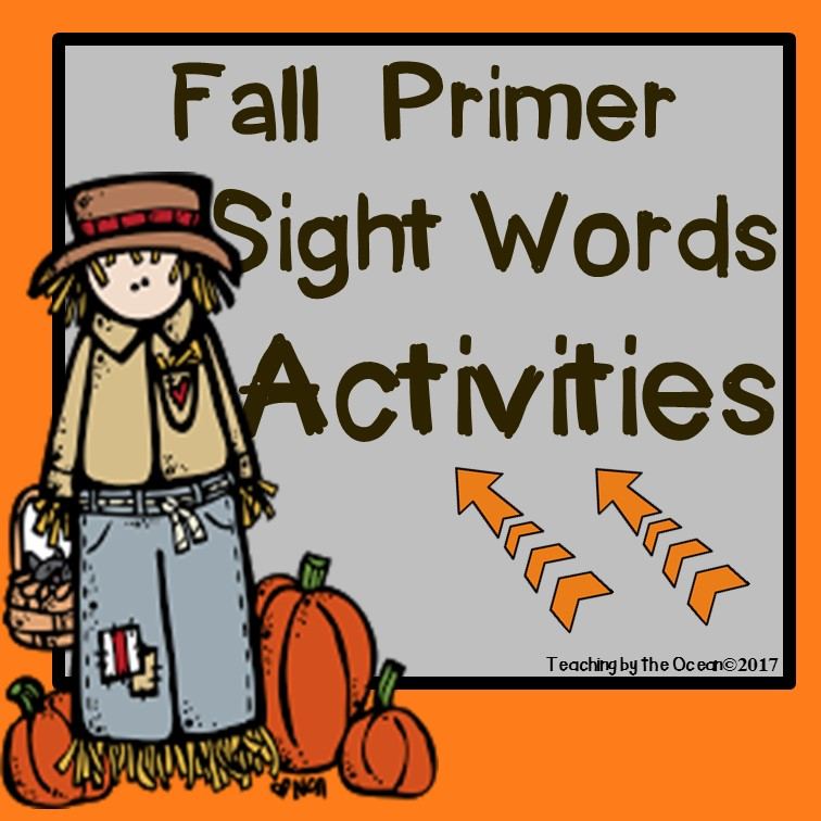 Primer Sight Words Worksheets - Fall Themed