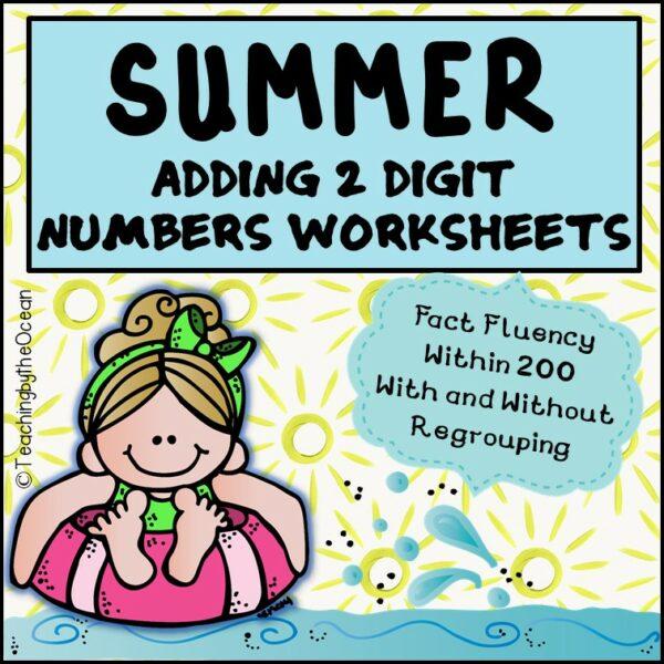 Summer 2 Digit Addition Worksheets