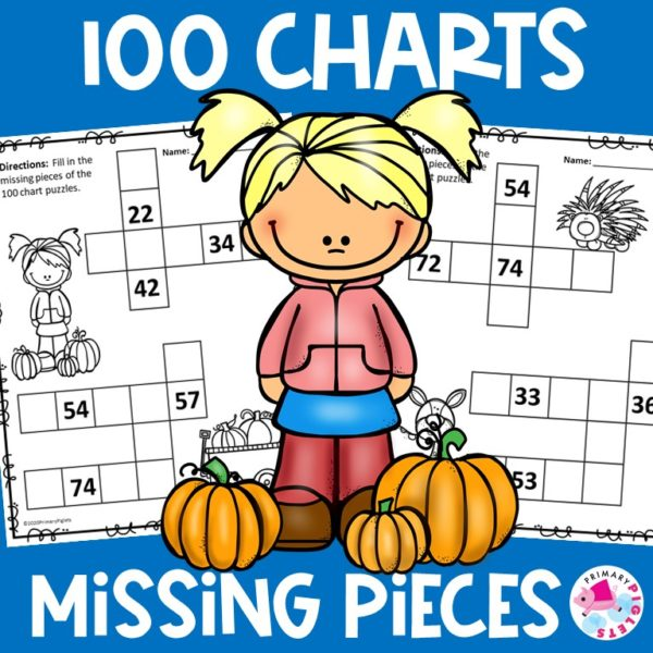 100 Chart Worksheets Fall Theme   100 Chart Missing Numbers