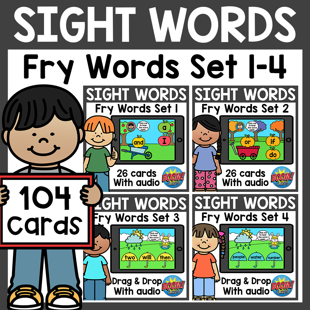 Fry Sight Words Boom Cards Bundle Distance Learning