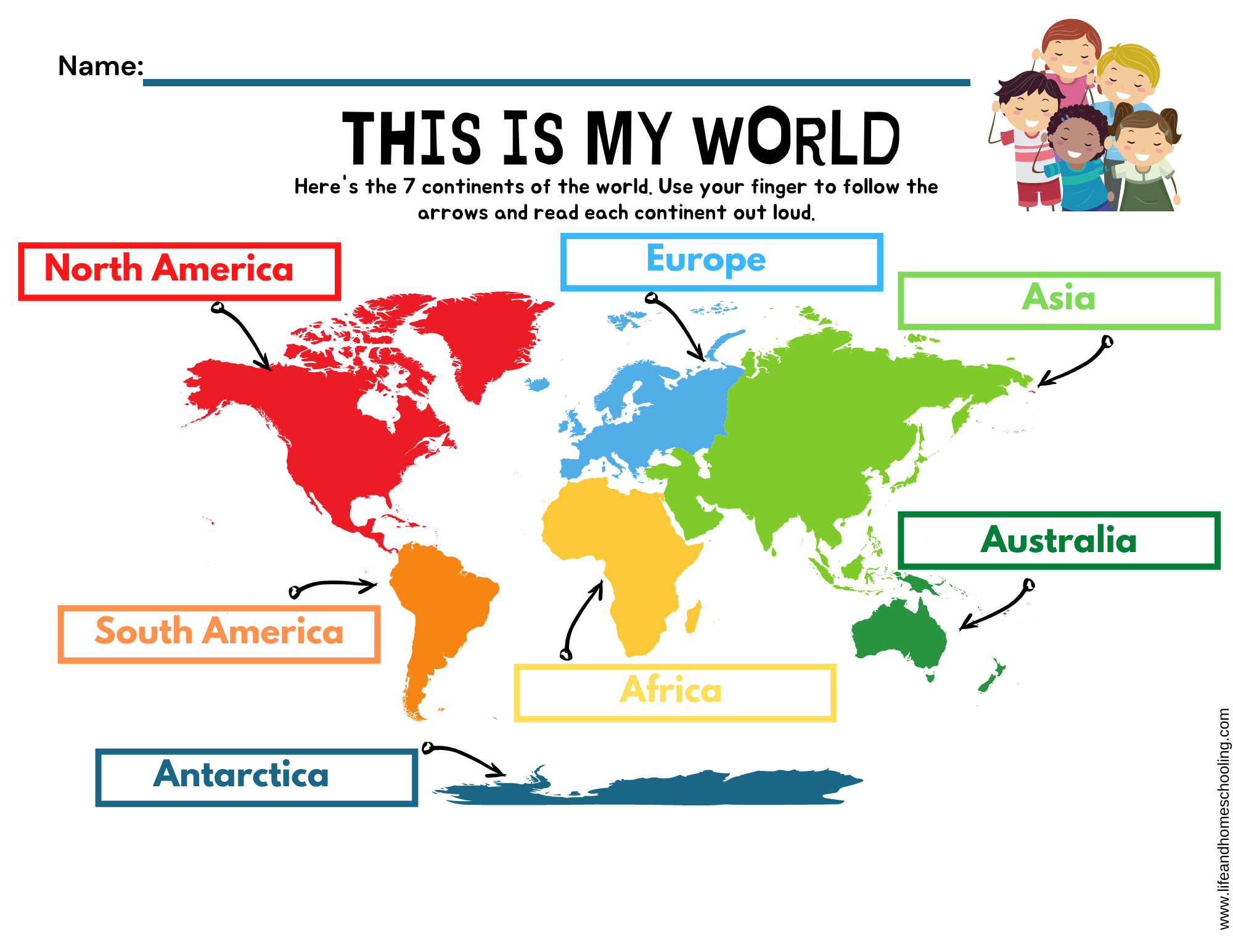 The 7 Continents Printable Activity Made By Teachers