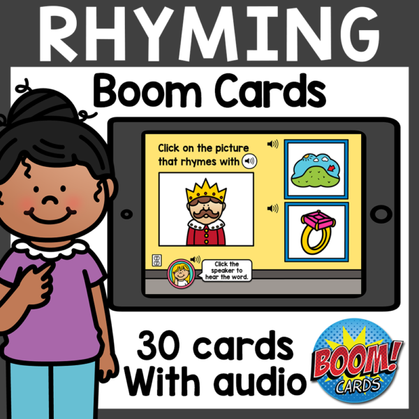 Rhyming Boom Cards Distance Learning