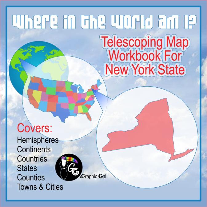 New York State Geography Telescoping Map Workbook
