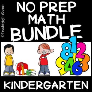 Kindergarten Math No Prep Packet of Worksheets