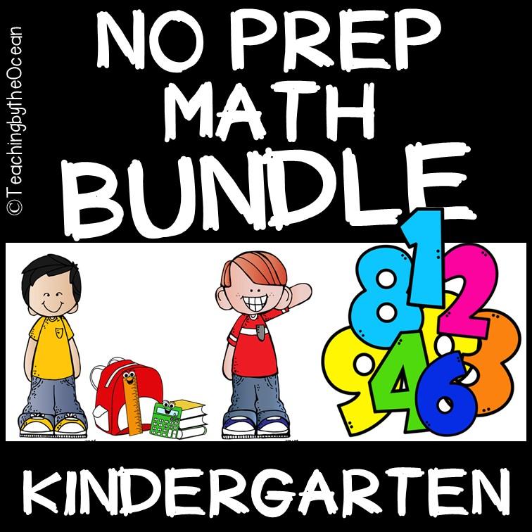 Kindergarten Math No Prep Packet of Worksheets