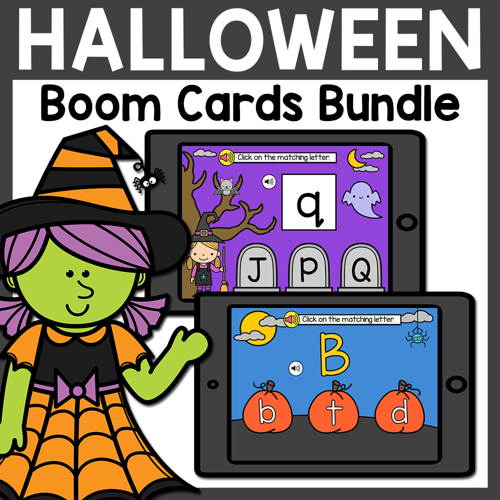 Halloween Boom Cards Bundle | October Boom Cards