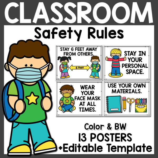 Classroom Safety Rules Posters COVID 19