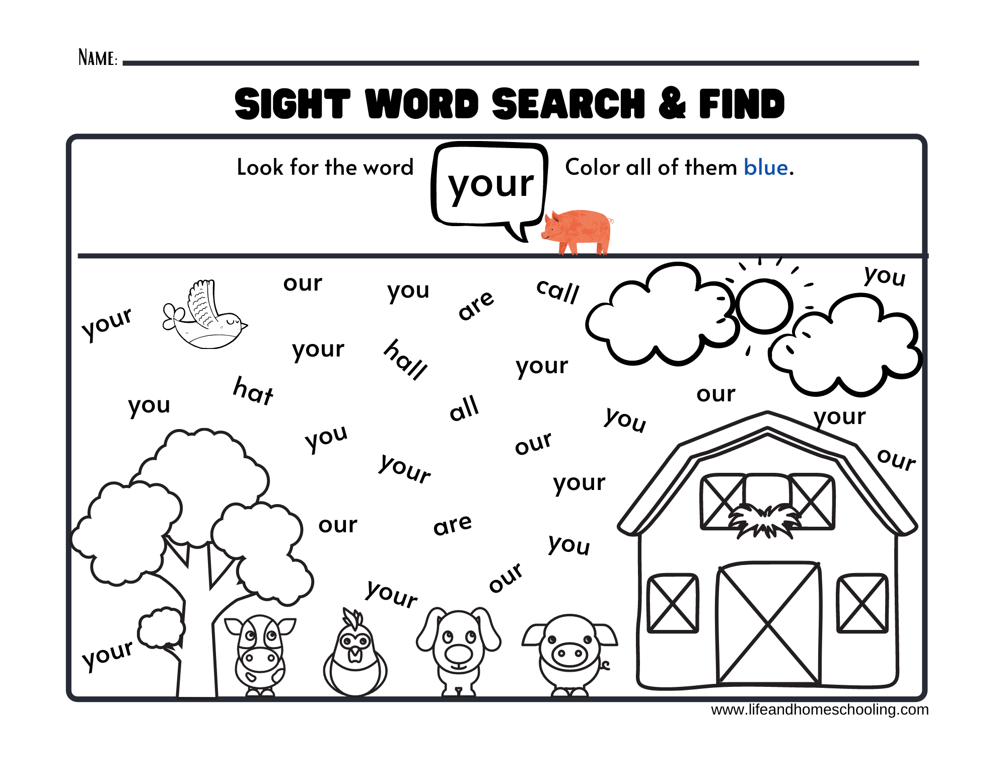 Sight Words Printable Activity Worksheets   Made By Teachers