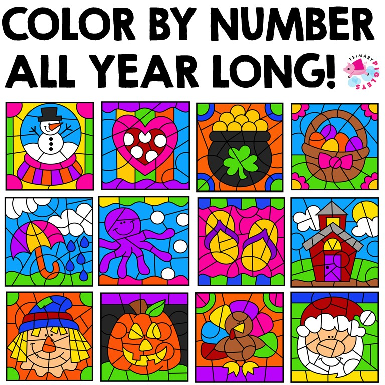 COLOR BY NUMBER ALL YEAR BUNDLE