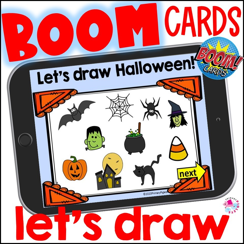 Halloween Directed Draw Boom Cards Set 2