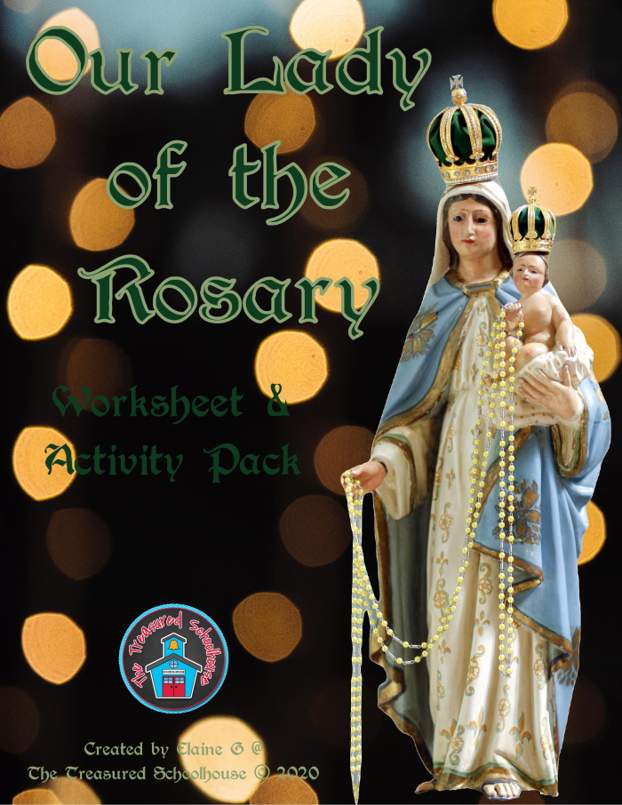 Our Lady of the Rosary Worksheet and Activity Pack