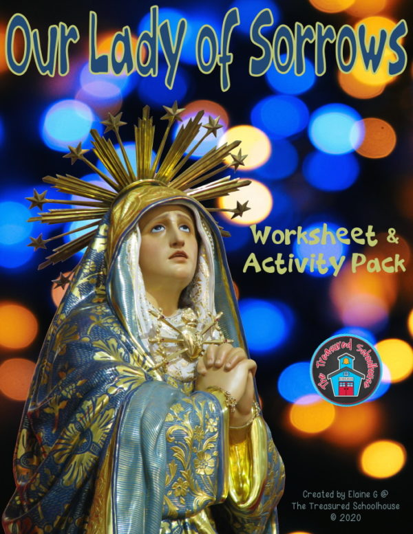 Our Lady of Sorrows Worksheet and Activity Pack