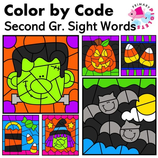 Halloween Color by Sight Word 2nd Grade