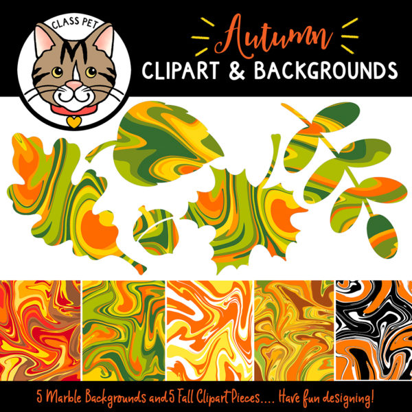 Fall Leaves Clipart and Backgrounds