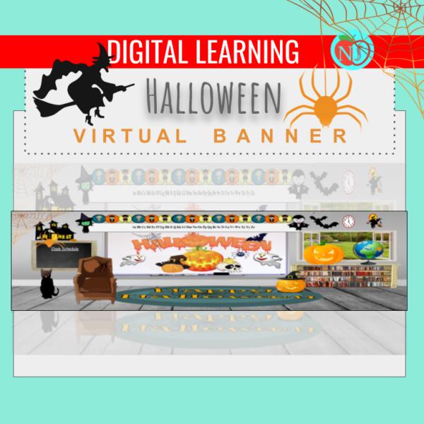 Editable HALLOWEEN Bitmoji Banner | Google Classroom