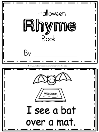 free kindergarten rhyming