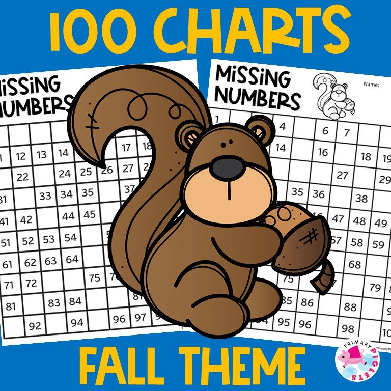 100 Charts Worksheets Fall Distance Learning
