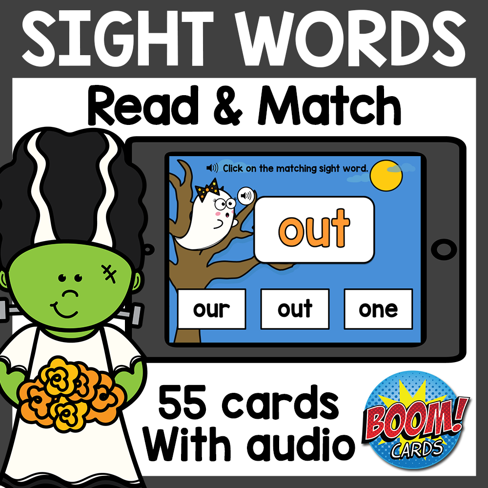 Sight Words Boom Cards | Halloween Boom Cards