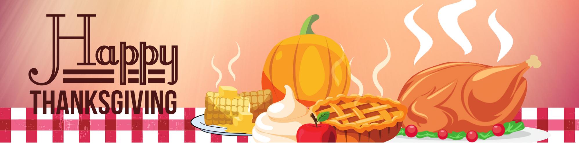 Happy Thanksgiving ANIMATED Virtual BANNER | GOOGLE CLASSROOM