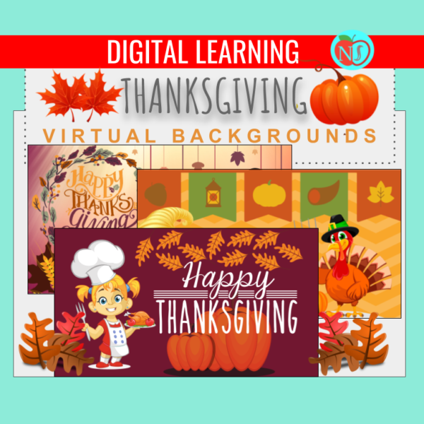 THANKSGIVING Virtual Backgrounds | 15 THANKSGIVING THEME ZOOM BACKGROUDS