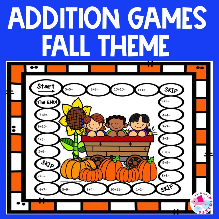 Fall Math Addition Games
