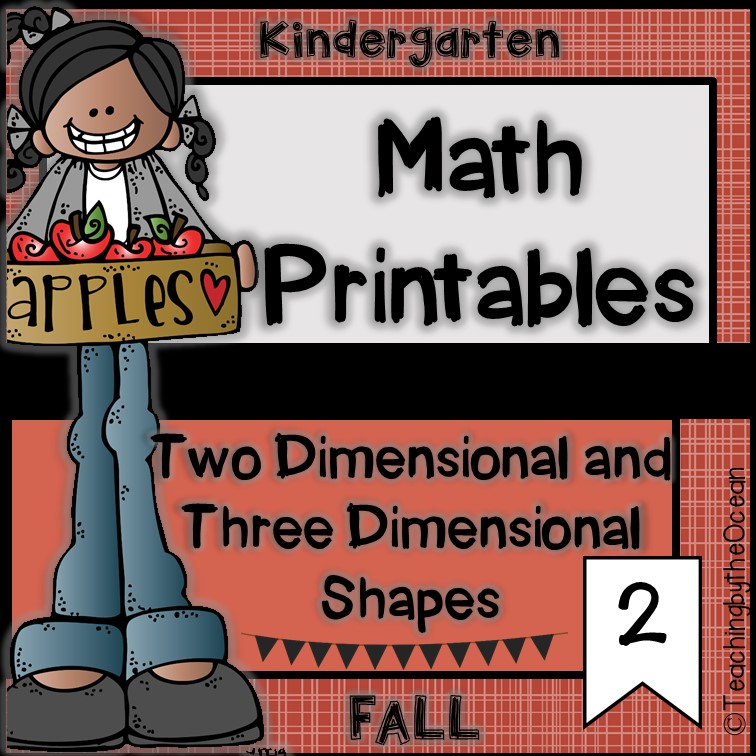 Kindergarten Math Printables-Two and Three Dimensional Shapes