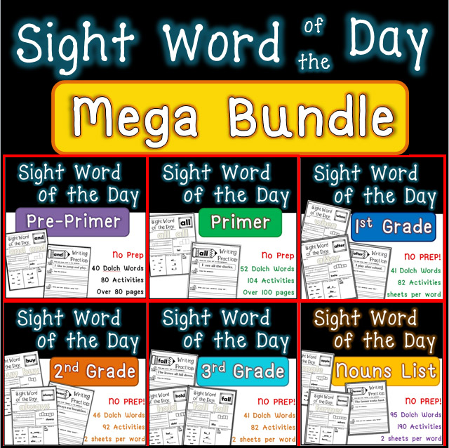 Sight Word Of The Day Printable Workbook