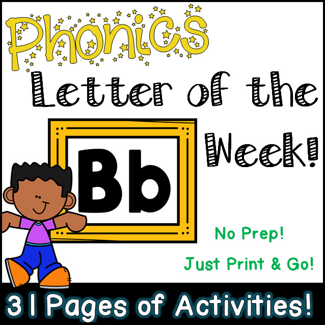 Phonics Letter of the Week - Letter Bb Activity Pack