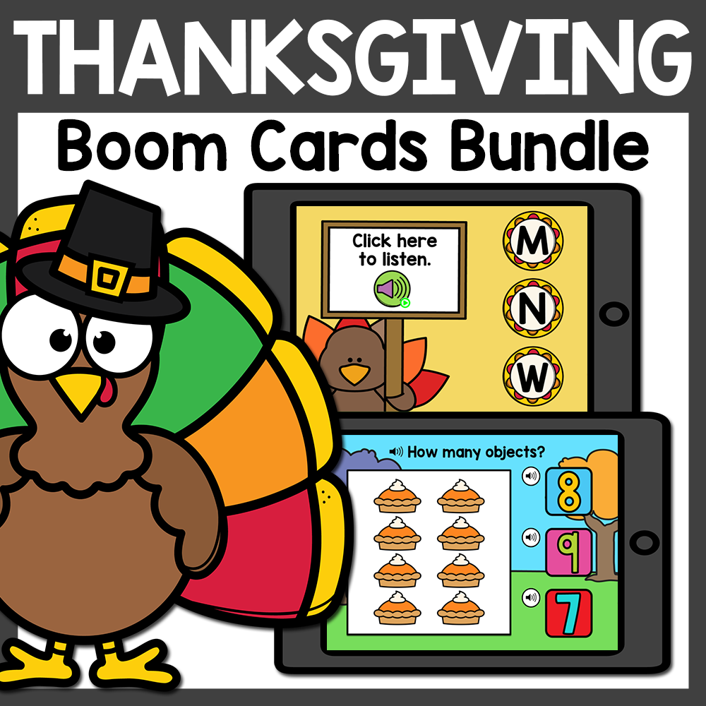 Thanksgiving Boom Cards Bundle | November Boom Cards Distance Learning