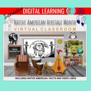 Bitmoji Classroom | Native American Heritage Month | 10 Slides